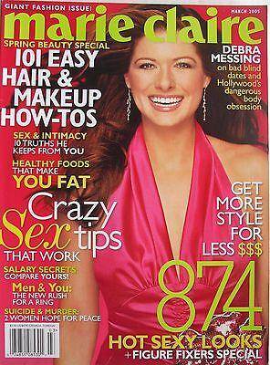 Debra Messing March 2005 Marie Claire Magazine
