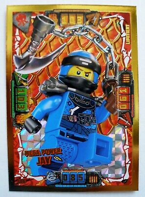 Lego Ninjago Serie 4 - 1 Karte Trading Card Game LE 6 Mega Power Jay limitiert