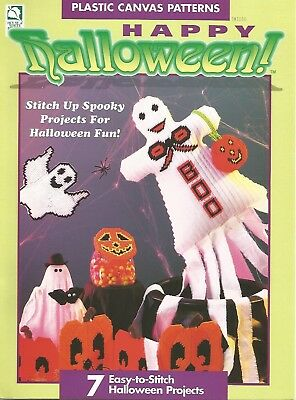 Happy Halloween Plastic Canvas Patterns Windsock Witch Tissue Box Mobile HOWB](Halloween Windsocks Craft)