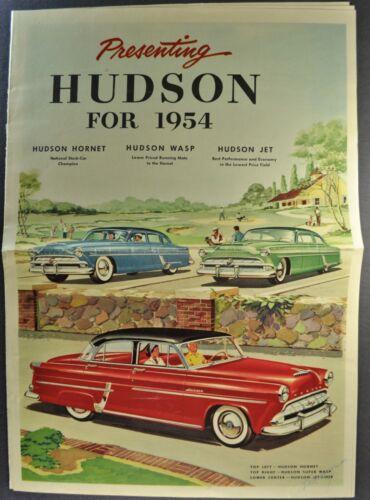 1954 Hudson Sales Brochure Hornet Wasp Super Jet Liner Excellent Original 54