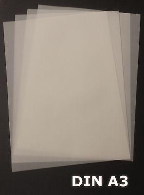 25 Blatt DIN A3 Transparentpapier Zanders T2000 110g/m² exzellente Durchsicht