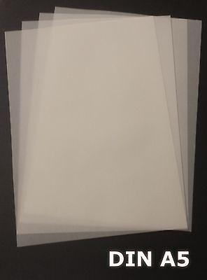 100 Blatt DIN A5 Transparentpapier Zanders T2000 110g/m² exzellente Durchsicht
