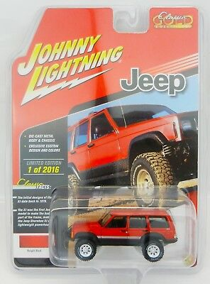 Johnny Lightning *RED* JEEP CHEROKEE 4x4 *2018 mc2-toys EXCL