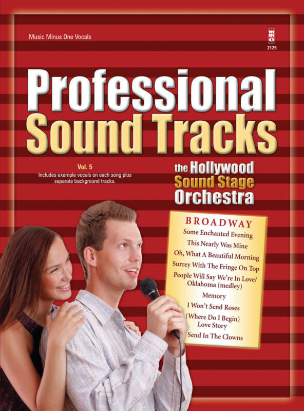 Professional Sound Tracks Vol 5 Vocal Sheet Music Minus One Sing-Along Book CD