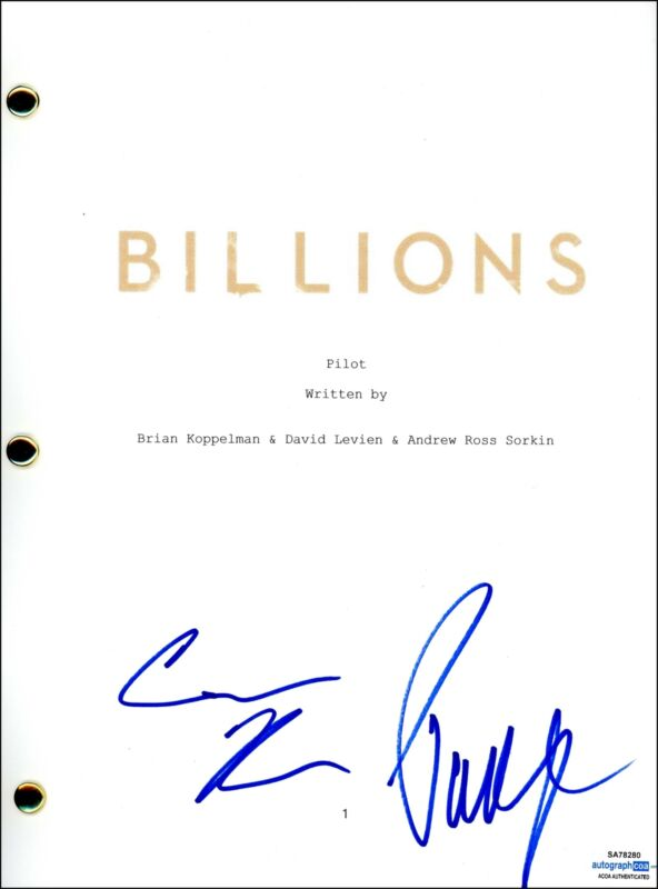 "Paul Giamatti & Condola Rashad ""Billions"" AUTOGRAPH Signed Pilot Script ACOA"
