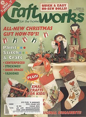 Craftworks Nov 1994 Easy No-sew Dolls Kids Christmas Crafts Gingerbread House - Easy Kids Christmas Crafts