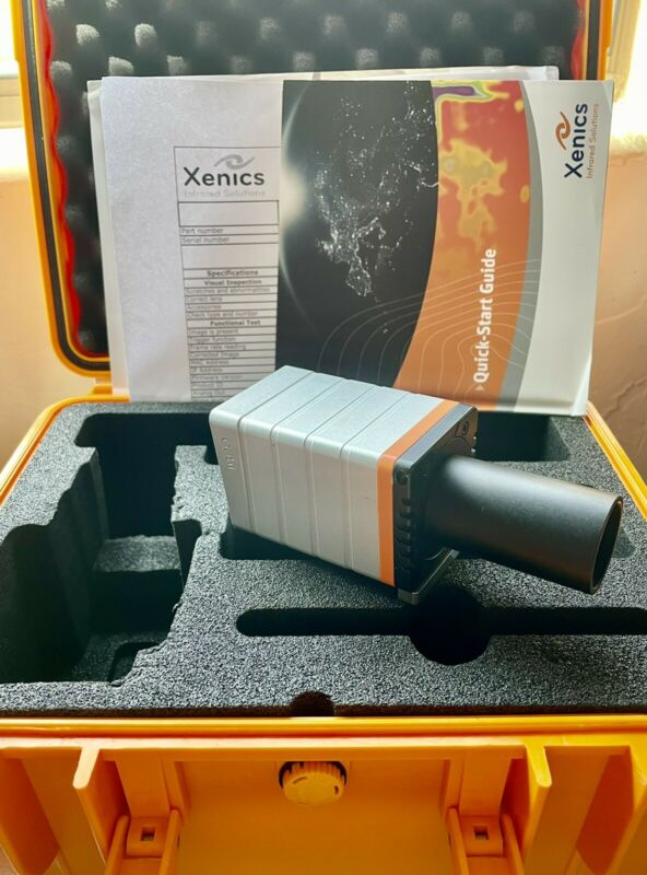 Xenics Gobi 384 GigE Thermal Infrared Camera with Lens - Tested!