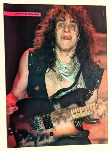 DIO GUITARIST VIVIAN CAMPBELL LIVE / MAGAZINE FULL PAGE PINUP POSTER CLIPPING