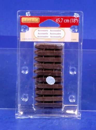 Lemax Village Collection Brown Wood Picket Fence 94600