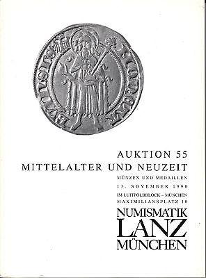 LANZ AUKTION  55 Katalog 1990 Neuzeit Mittelalter Habsburg Albert Franz Josef ?0