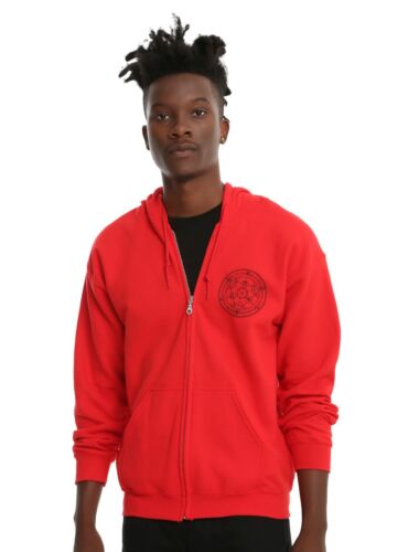 FULL METAL ALCHEMIST SYMBOLS HOODIE RED OFFICIAL LICENSED MENS Small S NWT NEW