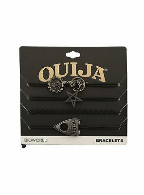 Ouija Mystifying Oracle 4 Bracelet Charm Set Board Planchette Moon Sun Pentagram