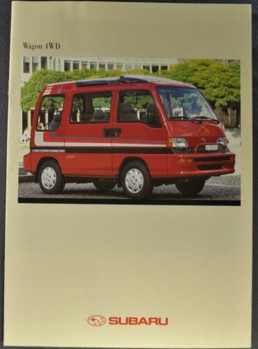 1997 Subaru Wagon 4WD Brochure Delivery Van Excellent Original 97 German Text