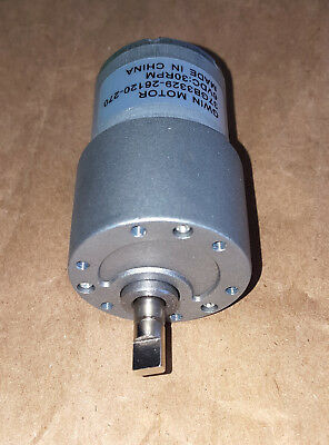 Super Powerful 30rpm Geared Reduction Motor 3 To 12vdc - New Free Ship