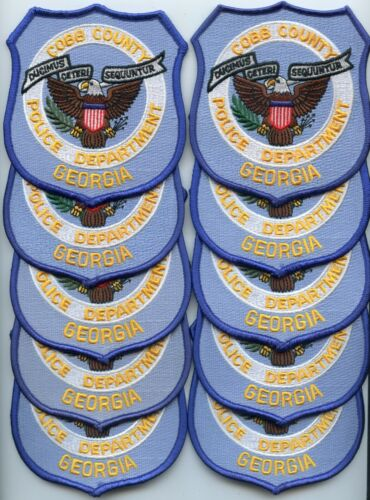 COBB COUNTY GEORGIA Patch Lot Trade Stock 10 Police Patches POLICE PATCH