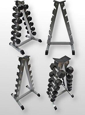 BodyRip A Shape Dumbbell Rack Stand Holder Hex Rubber Pro Style Chrome Dumbbells