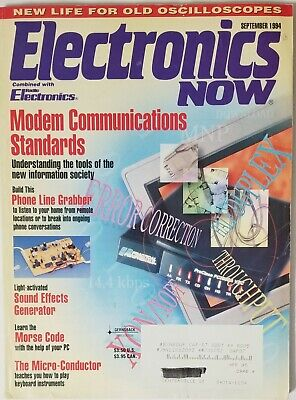 Electronics Now Magazine September 1994 Light Activated Sound Effects Generator for sale  Shipping to India