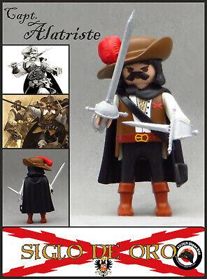 Playmobil Custom CAPITAN ALATRISTE Soldado Tercios Españoles + ESPADA + DAGA WW2