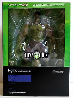 "In STOCK Figma Max Factory ""Hulk"" 271 Marvel The Avengers Action Figure"
