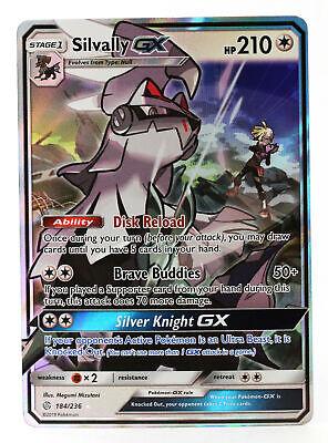 Silvally GX SM Cosmic Eclipse 184//236 Half-Art Pokemon Card