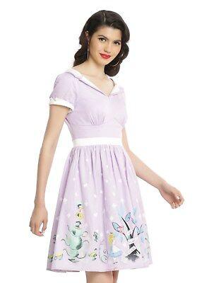 Retro Disney Alice In Wonderland Tea Party Swing Dress plus size large Alice Tea Party