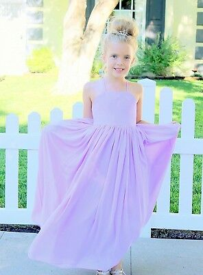 Chiffon Flower Girl Dresses Wedding Pageant Dress Formal Birthday Girl Dresses