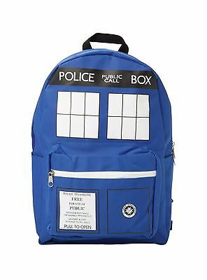 Doctor Who Tardis Backpack Blue Police Bag School Cosplay Official School Pack (Doctor Who Backpack)