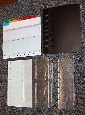Classic Desk Planner Accessory 7-hole Bundle Tabs Address Protectors Lot 2