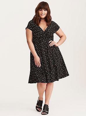 Print Surplice Dress - TORRID RETRO CHIC PIN-UP STAR PRINT SURPLICE DRESS, NWT