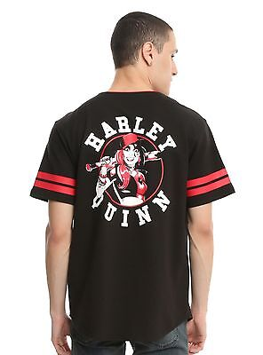 DC COMICS HARLEY QUINN BASEBALL JERSEY New with Tags Mens Small