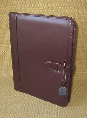 Folio Size Burgundy Leather Executive Writing Notepad Full Size Cover