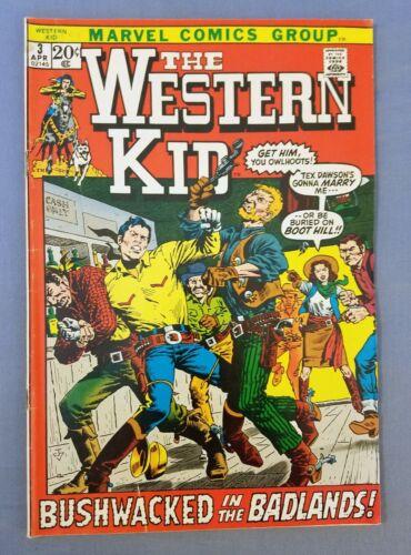 THE WESTERN KID #3, MARVEL COMICS, BRONZE AGE, 1972