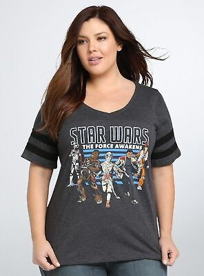 Torrid Star Wars THE FORCE AWAKENS Womens Plus Size T-Shirt NWT Licensed