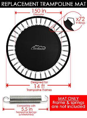 "SkyBound 150"" Trampoline Mat w/ 72 V-Rings  (Fits w/ 14' Frames & 5.5"" Springs)"