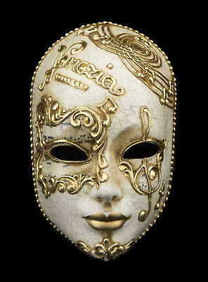 Mask Venice Venezia Face Paper Mash Musica golden Carnival venetian 2477