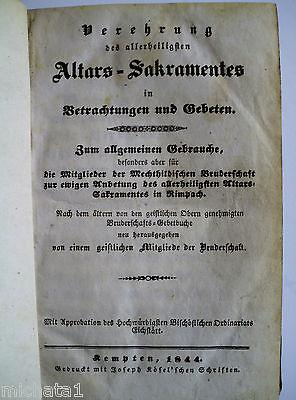 Verehrung des allerheiligsten Altars-Sakramentes in .... Buch von 1844 - Kempten