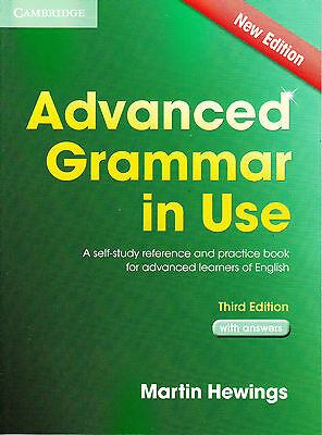 Cambridge ADVANCED GRAMMAR IN USE with ANSWERS Martin Hewings THIRD EDITION @New