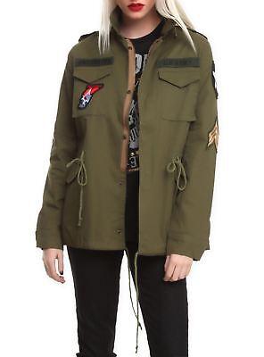 US Army Leutnant Militär Aufnäher Soldaten Trench Jacke Damen Klein Halloween