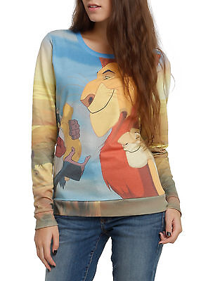 Disney The Lion King $34.50 Proud Parents Juniors Pullover Top Simba Large NEW!