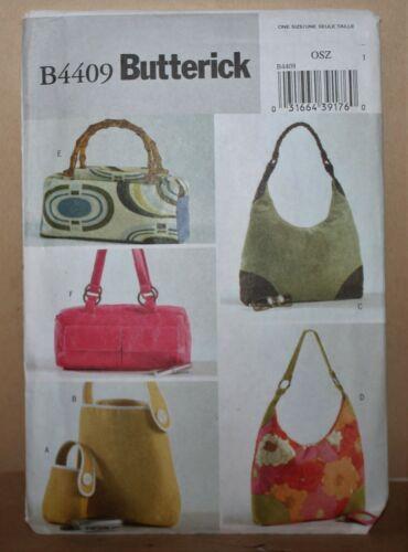 B4409 Butterick Bags Pattern Uncut FF