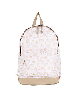 NEW! Pusheen Poses & Things All Over Print Canvas Backpack Book Bag School - School Things