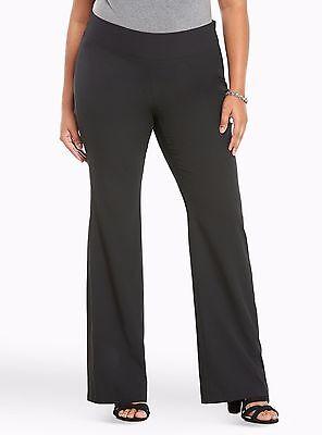 Torrid Crepe Slim Flare Pants Black 1X 14 1 #49806
