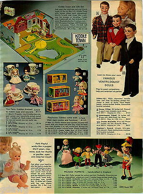 1970 PAPER AD Doll puppets Pelham Kiddles Charlie McCarthy Danny O'Day Pinnochio