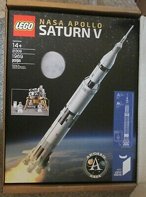 LEGO Ideas NASA Apollo Saturn V 21309 Building Kit RETIRED Space Shuttle Rocket