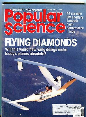 Popular Science Magazine January 1986 Flying Diamonds EX