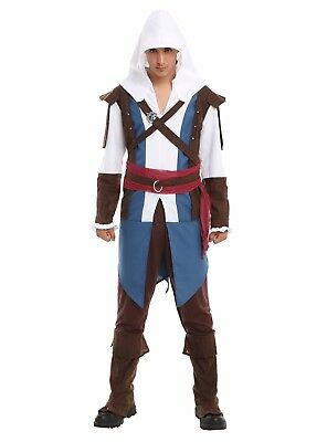 Mens Assassin's Creed IV Black Flag Cosplay Edward Kenway Costume Adult XL - NEW - Edward Kenway Cosplay