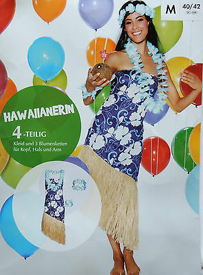 Hawaiianerin Urlaub Tänzerin Kostüm Karnevalskostüm Faschingskostüm 4-tlg NEU