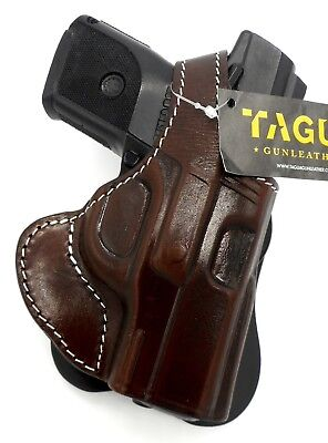 TAGUA PREMIUM Brown Leather Thumb Break Rotating PADDLE Holster RUGER SR9C SR40C](ruger sr9 paddle holster)
