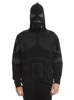 STAR WARS SHADOW TROOPER DARK JEDI HOODIE HOODED - Dark Trooper Kostüme
