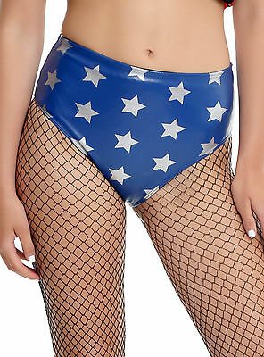 Wonder Woman Cosplay Costume BOOTY Shorts/HOT Pants Blue w/ Stars DC COMICS S-2X
